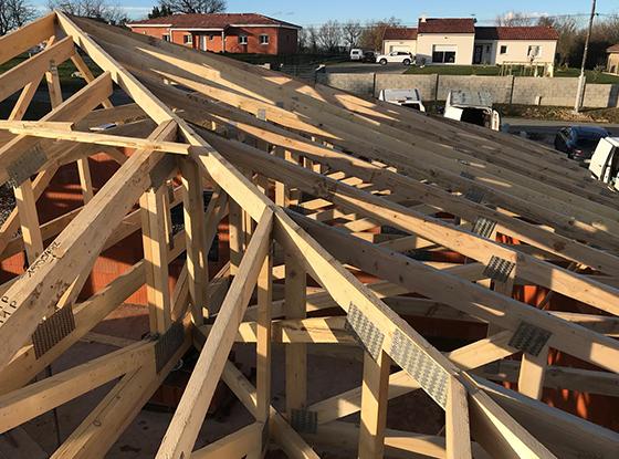 La charpente industrielle en bois